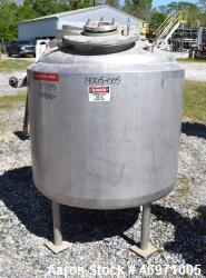 "Used- Northland Stainless Reactor, 200 Gallon, 316 Stainless Steel, Vertical. 42"" Diameter x 30"" straight side, dished top a..."