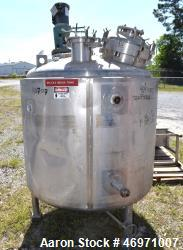 "Used- Northland Stainless Reactor, 300 Gallon, 316L Stainless Steel, Vertical. 48"" Diameter x 36"" straight side dished top a..."