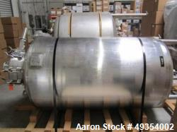 Used- Northland Stainless Steel Reactor, 600 Gallon, Jacketed Tank, Pressure Vessel. Includes: Spray balls, agitator with tw...