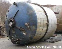 Used- Perry Products Reactor, 5,000 Gallon, 316 Stainless Steel. Internal rated 75 psi /FV. 304 Stainless steel dimple jacke...