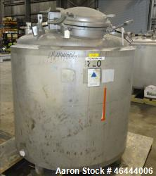 "Precision Stainless Reactor, 300 Gallon, 316L Stainless Steel, Vertical. 48"" Diameter x 40"" straigh..."