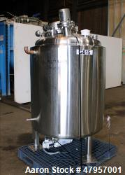 "T&C Stainless Reactor, 800 Liter (211 Gallon). 316L Stainless steel, vertical. Approximately 38"" di..."