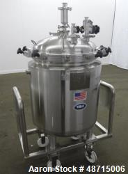 Used- T&C Reactor, 200 Liter, Approximately 52.8 gallons, 316L Stainless Steel