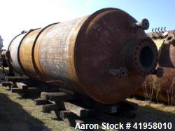 "Wyatt Industries Reactor. 304 Stainless Steel Clad. 84"" I.D. x 22' Tangent to tangent. Internal rat..."