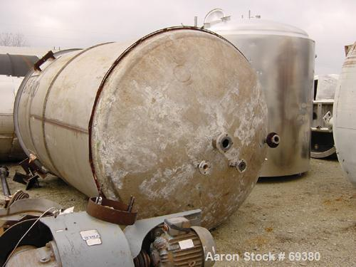 Used: Metal Arts Company reactor, 3000 gallon, 316 stainless steel,vertical.  Internal rated 50 psi at 500 deg f.  12 turns ...