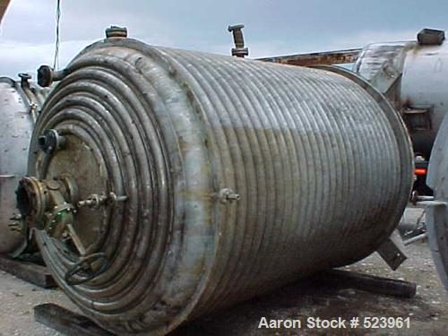 USED: 5000 Gallon, 316L stainless steel, reactor built by Mid SouthMaintenance. Dish top/bottom heads. 8' diameter x 12' hig...