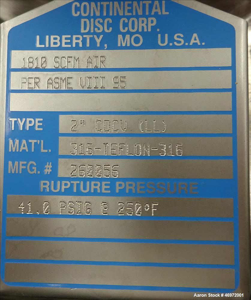 Used- Mueller Reactor, Approximate 10.5 Gallon (40 Liter), 316L Stainless Steel,
