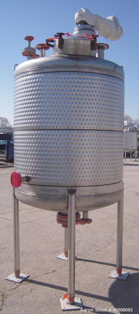 """Unused- Mueller Reactor, 430 Gallon, Model """"F"""", 304L Stainless steel, Vertical. 48"""" diameter x 47"""" straight side, dished top..."""