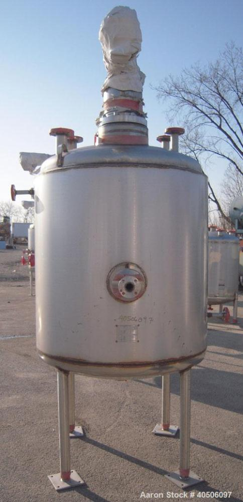 """Unused- Mueller Reactor, 400 Gallon, Model """"F"""", 304L Stainless steel, Vertical. 48"""" diameter x 47"""" straight side, dished top..."""