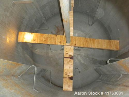 Used- Mueller Reactor, 3000 Gallon, Model F, 316L Stainless Steel, Vertical. 84'' diameter x 111'' straight side, 2 to 1 ell...