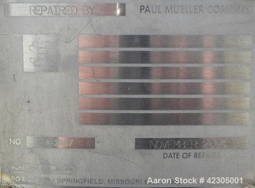 Used- 198 Gallon Stainless Steel Mueller Reactor