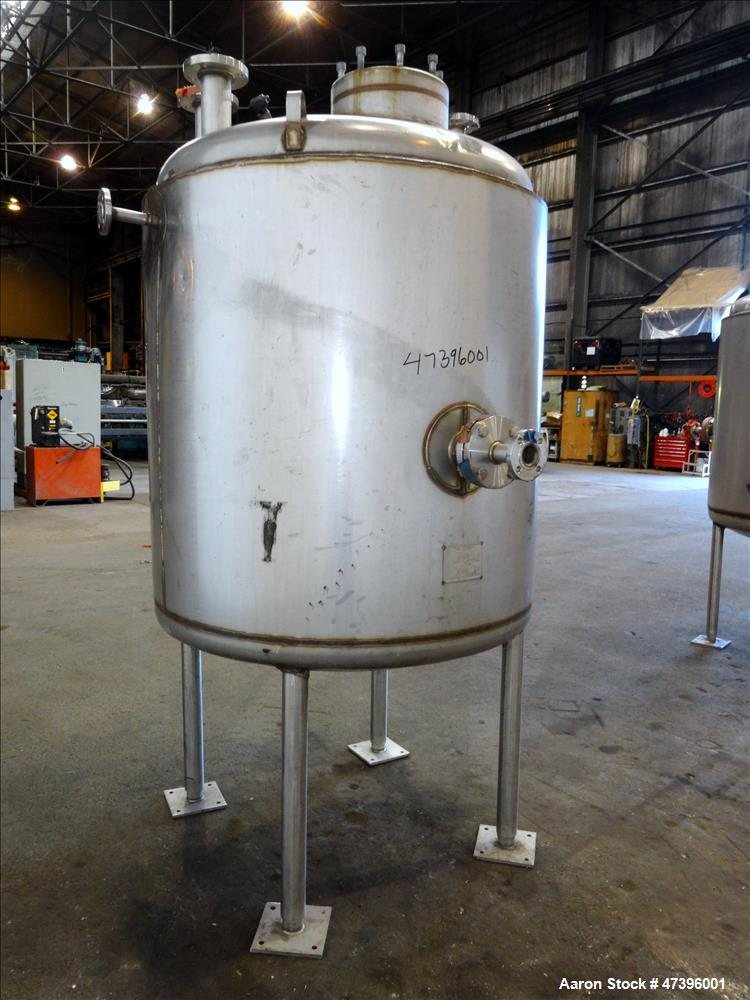 "Used- Mueller Reactor, 400 Gallon, Model ""F"", 304L Stainless Steel, Vertical."