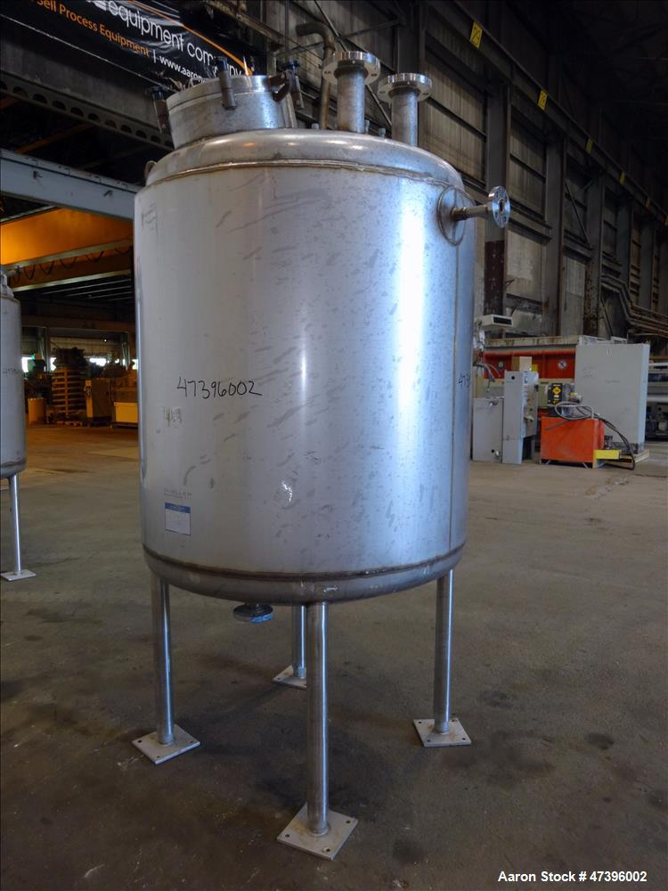 "Used - Mueller Reactor, 400 Gallon, Model ""F"", 304L stainless steel, vertical."
