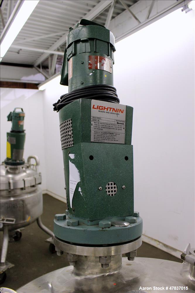 "Used- Mueller Reactor, 240 Liter (63 Gallon), Model F, 316L Stainless Steel, Vertical. 30"" Diameter x 18"" straight side, dis..."
