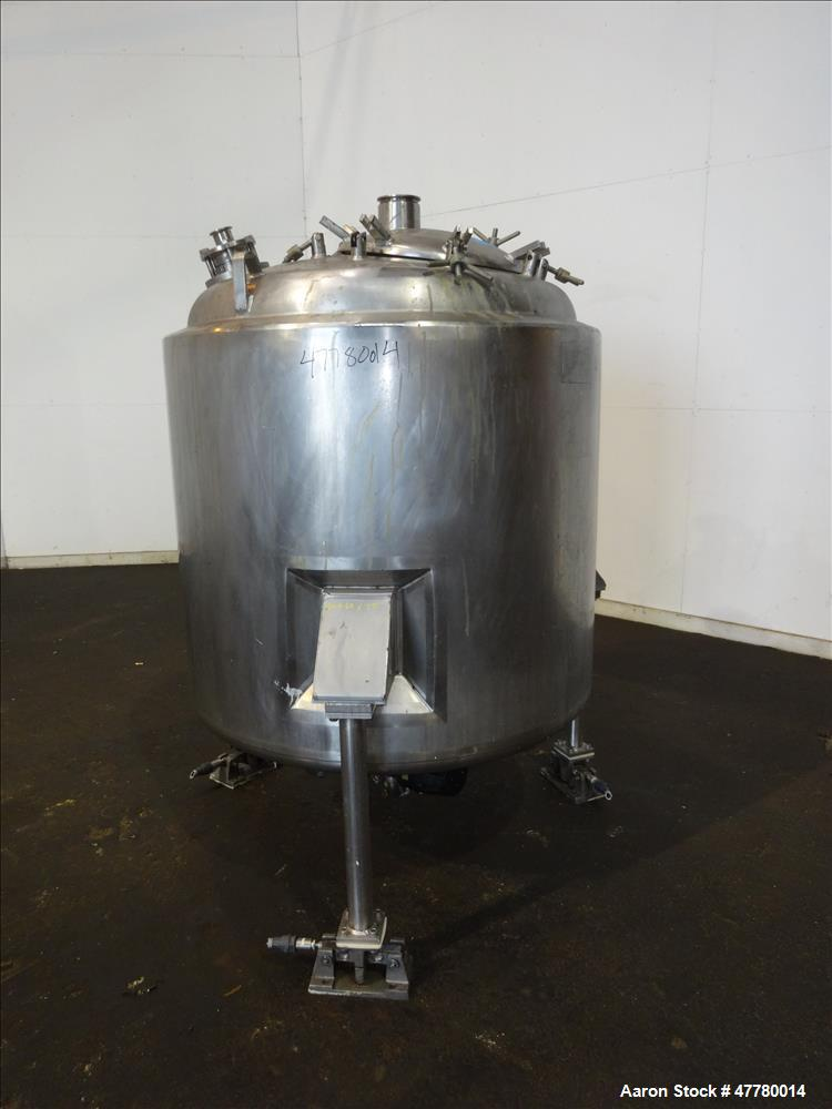Used- Mueller Reactor, 1000 Liter (264 Gallon), 316 Stainless Steel, Vertical
