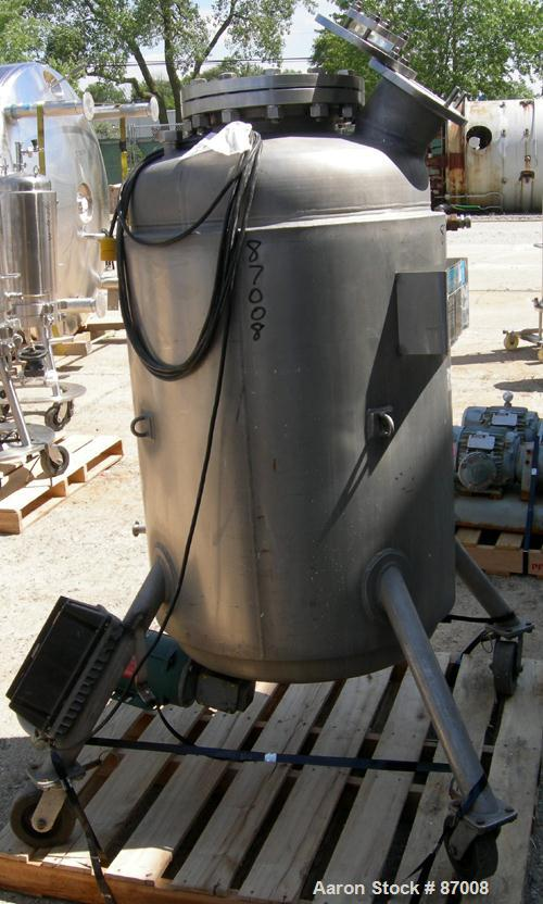 "USED: Mueller Reactor, 75 gallon, 316L stainless steel, vertical. Approximately 24"" diameter x 36"" straight side, dished top..."