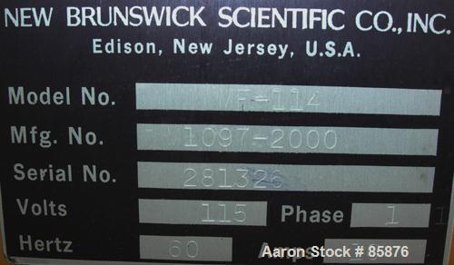 "Used- New Brunswick Microferm Lab Fermenter, 3.6 Gallon, Type MF-114. Glass vessel, approximately 8-1/4"" diameter x 17-1/2"" ..."