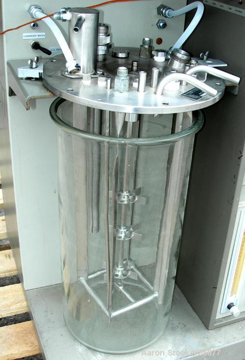 "USED: New Brunswick Microferm lab fermenter, 3.6 gallon, type MF-114. Glass vessel, approximate 8-1/4"" diameter x 17-1/2"" st..."