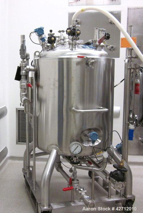 Used- Kells Reactor, 400 Liter (105 Gallon), 316L Stainless Steel. Internal rated 3.5 bar (50 psi), 304 stainless steel jack...