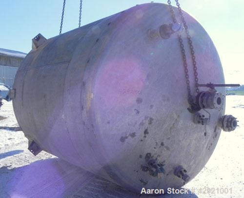 """Used- Bay Tank & Fabricating Reactor, 6000 Gallon, 316L Stainless Steel, Vertical. 114"""" Diameter x 120"""" straight side, dishe..."""