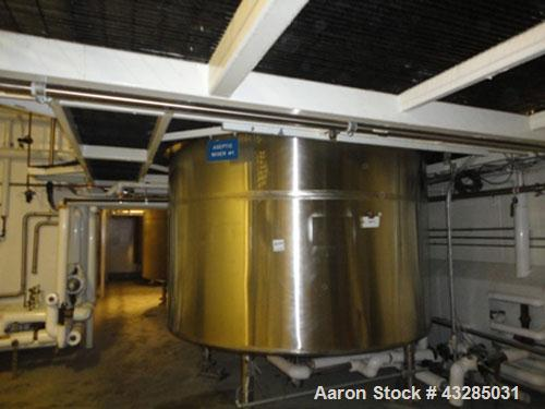 """Used- Tolan Reactor, 3000 Gallon, 316L Stainless Steel, Vertical. Approximately 96"""" diameter x 84"""" straight side. Dished top..."""