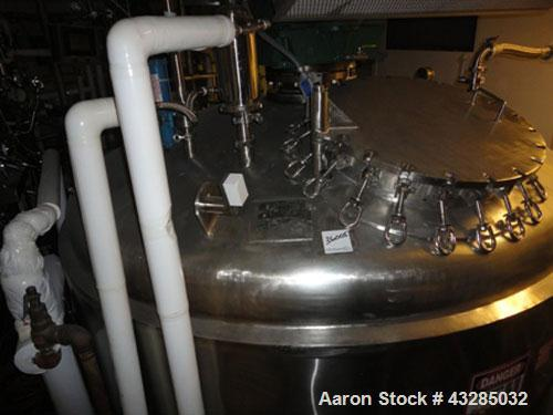 "Used- Tolan Reactor, 3000 Gallon, 316L Stainless Steel, Vertical. Approximately 96"" diameter x 84"" straight side. Dished top..."