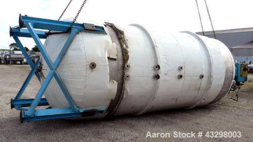 "Used- Hamilton Dynamic Reactor, 6,500 Gallon, 304L Stainless Steel, Vertical. 96"" Diameter x 192"" straight side, 2:1 ellipti..."