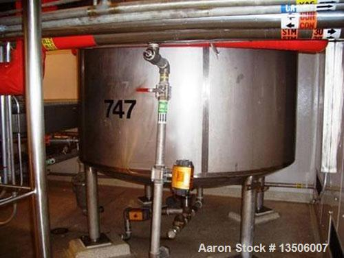 Used-Northland Stainless 2,300 gallon, 316L WFI/reactor tank. Domed top, dished bottom. Interior shell dimensions 5' diamete...