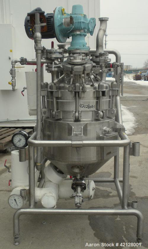 "Used- Northland Stainless Reactor, 18 gallon, 316L stainless steel, vertical. 20"" diameter x 12"" straight side, bolt on dish..."