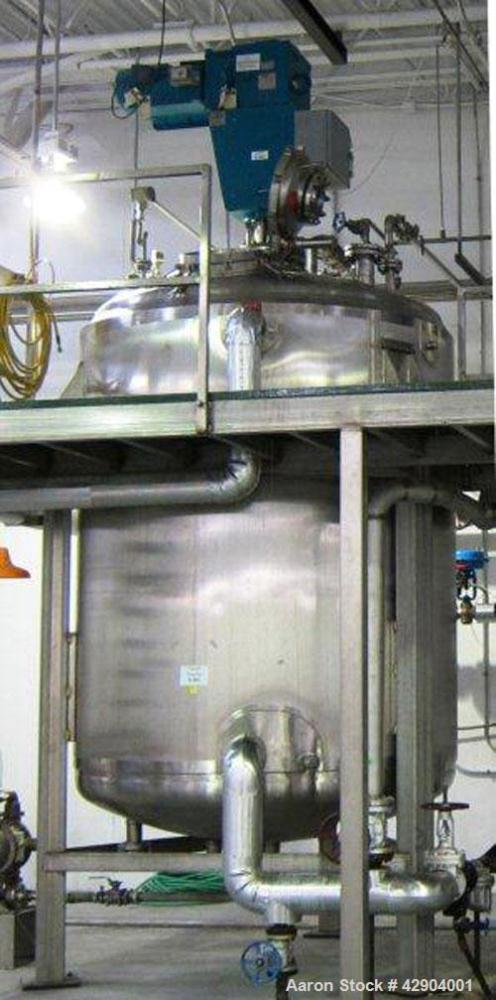 "Used-Northland Stainless Reactor, 2200 gallon, 316L stainless steel, 78"" dia. x98"" straight side. DishedTop and Bottom . Pol..."