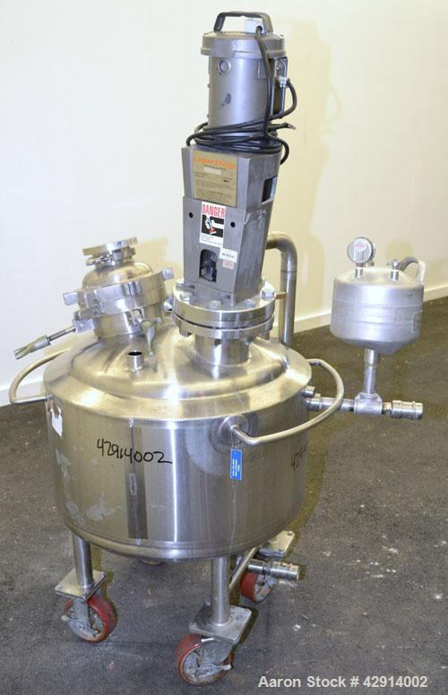 "Used- Northland Stainless Reactor, 26 Gallon, 316L Stainless Steel, Vertical. 24"" Diameter x 14"" straight side, dished top a..."