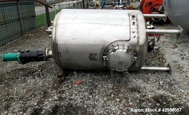 """Used- Northland Stainless Reactor, 500 Gallon. Stainless steel construction, approximately 48"""" diameter x 60"""" straight side,..."""