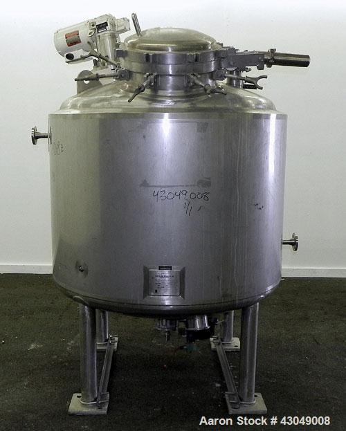 Used- Northland Stainless Reactor, 1200 Liter (317 Gallon), 316L Stainless Steel, Vertical. 48'' Diameter x 36'' straight si...