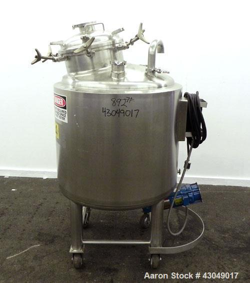 Used- Northland Stainless Reactor, 400 Liter (105 Gallon), 316L Stainless Steel, Vertical. 32'' Diameter x 33'' straight sid...