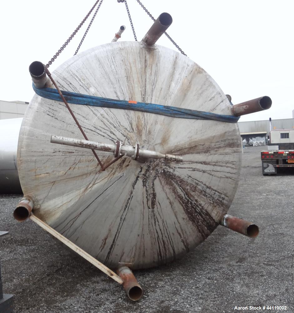 """Used- Northland Stainless Reactor, 9000 Gallon, 304 Stainless Steel, Vertical. Approximate 120"""" diameter x 178"""" straight sid..."""