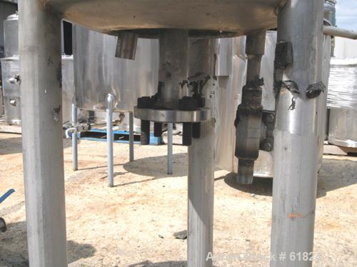 """Used- Northland Stainless Reactor, 10 Gallon, 316 Stainless Steel, Vertical. 14"""" Diameter x 14"""" straight side, dished top an..."""