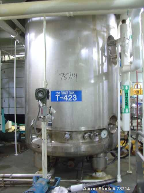 "USED: Northland Stainless fermenter/reactor, 1850 gallon, 316 stainless steel, vertical. 60"" diameter x 12' straight side, d..."