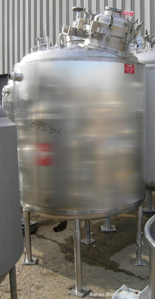 """USED: Northland Stainless reactor, 400 gallon, 316L stainless steel, vertical. 48"""" diameter x 48"""" straight side, dished top ..."""