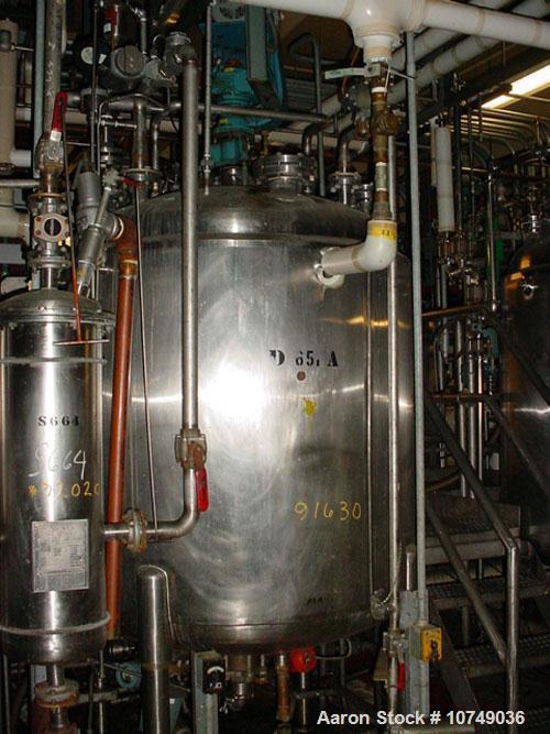 "Used-Paul Mueller 500 Gallon, 316L Stainless Steel, Reactor. 52"" diameter x 48"" straight side. Internal rated 100 psi/full v..."