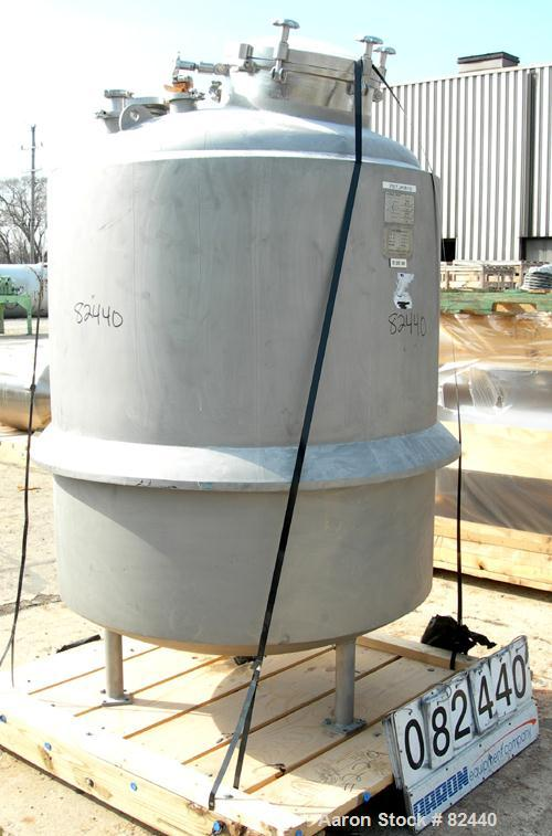 Used- 350 Gallon Stainless Steel Peterson Custom Stainless Reactor