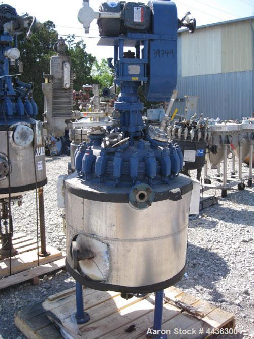 "Used- Pfaudler reactor, 30 gallon, 316 stainless steel construction, approximately 18"" diameter x 18"" straight side removabl..."