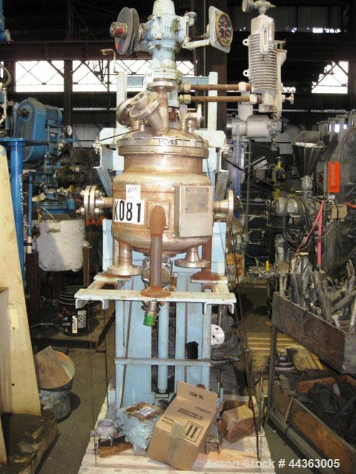 Used- 10 Gallon Stainless Steel Construction Pfaudler Reactor