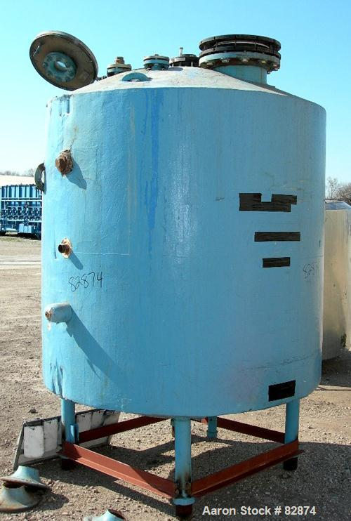 "USED: Pfaudler Reactor, 750 gallon, 316 stainless steel, vertical. 60"" diameter x 52"" straight side, dished top and bottom. ..."