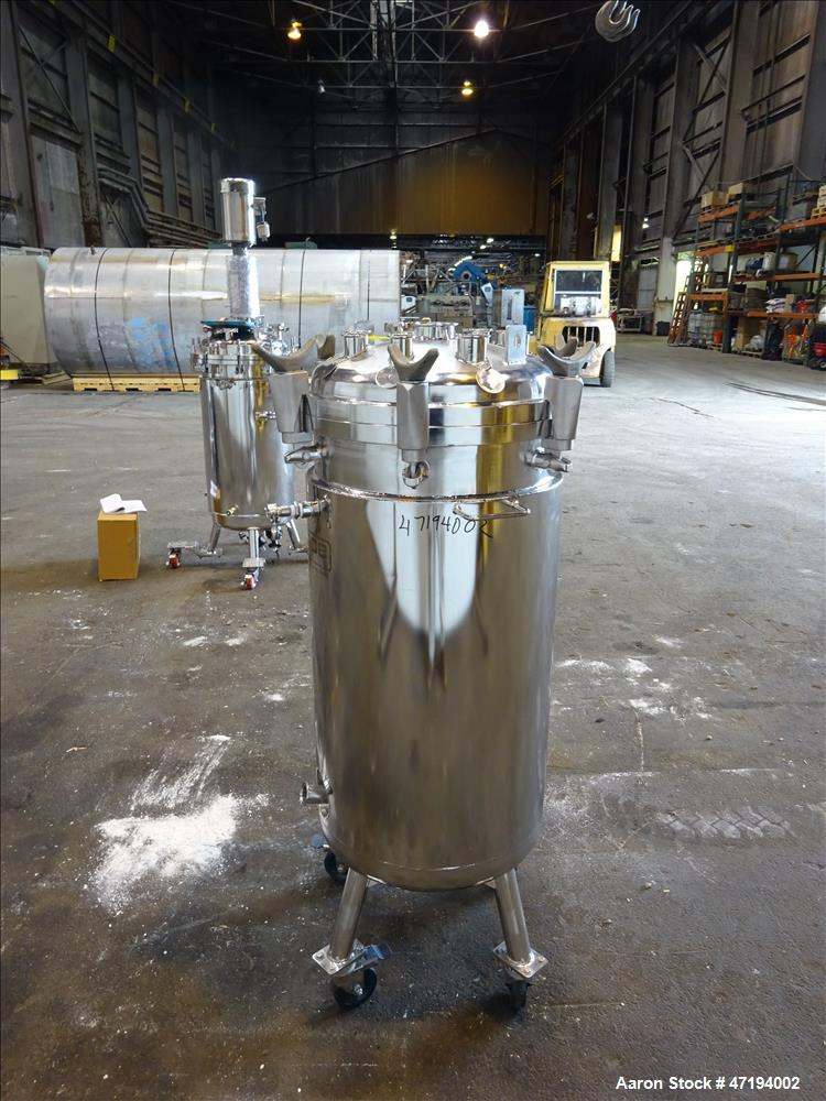 Used- Pope Scientific (Certified by Alloy Products) Reactor, 40 Gallon, 316L Sta