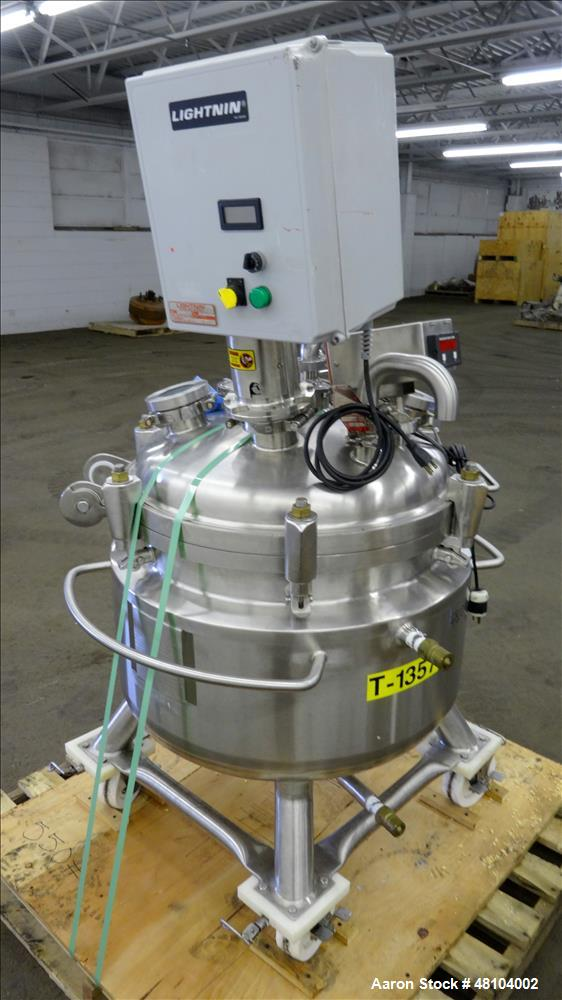 Used- Precision Stainless Reactor, 100 Liter (26.4 Gallon), 316L Stainless Steel