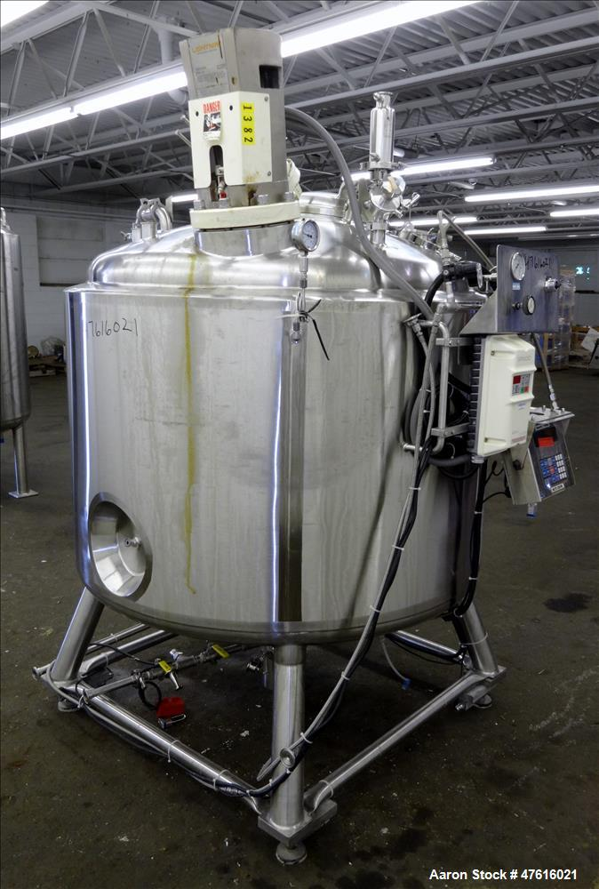 Used- Precision Stainless Reactor, 1000 Liter (264 Gallon), 316L Stainless Steel