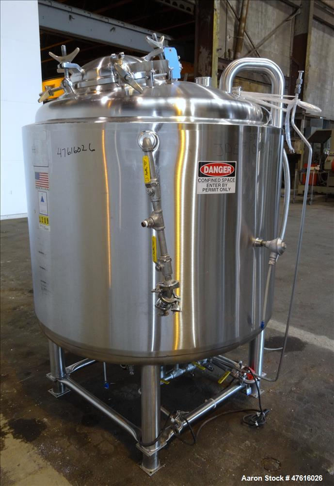 Used- Precision Stainless Reactor, 1000 Liter (198 Gallon), 316L Stainless Steel