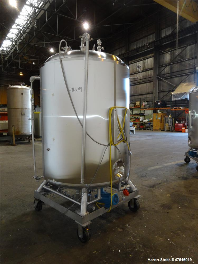 Used- Precision Stainless Reactor, 600 Gallon, 316L Stainless Steel, Vertical.