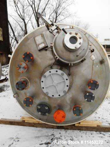 "Used- 1500 Gallon Precision Stainless Reactor. 316L stainless steel construction, approximately 66"" diameter x 108"" straight..."