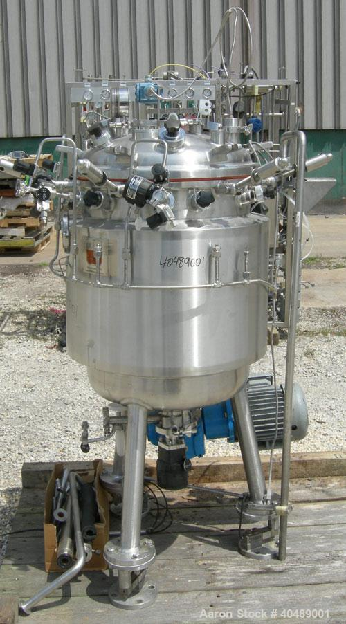 "Used- Precision Stainless reactor, 39 gallon (150 liter), 316L stainless steel, vertical. Approximately 20"" diameter x 27"" s..."